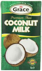 Grace Premium Coconut Milk 1 Ltr (Pack of 12)