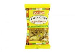 Asiko Exotic Ripe Plantain Crisps (Lightly Salted) 75g (Pack of 10)