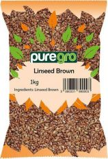 Puregro Whole Linseed / Flaxseed 1kg