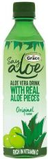 Grace Say Aloe Aloe Vera Drink with Real Aloe Pieces, Original 500ml (Pack of 6)