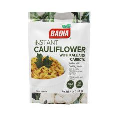 Badia Instant Cauliflower with Kale and Carrots (4 oz) 113.4g