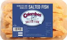 Colombos Finest Pollock Skinless & Boneless Salted Fish 250g (Box of 10)