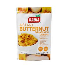 Badia Instant Butternut Squash with Carrots (4 oz) 113.4g