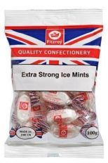 Fitzroy Extra Strong Ice Mints Sweets 100g