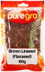 Puregro Brown Linseed (Flaxseed) 100g